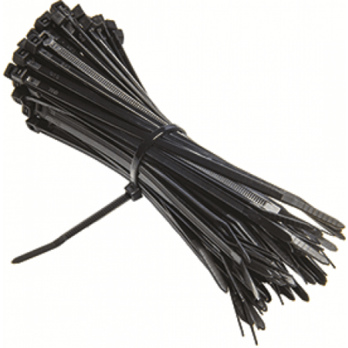 Black Wire Ties : Black nylon cable tie  sebl supplies