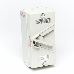 Isolator 3 pole 63A440V weather protected